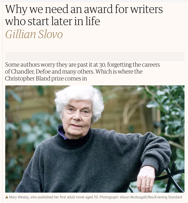Writing Later in Life